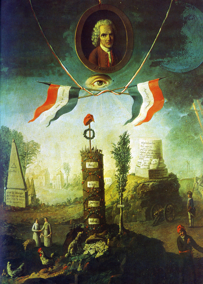 Col milquetoasts blog an allegory of the revolution with a an allegory of the revolution with a portrait medallion of jean jacques rousseau buycottarizona