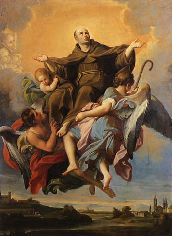 Apotheosis of Saint Bernardino attributed to Andrea Pozzo (1642,-1709 Venice)