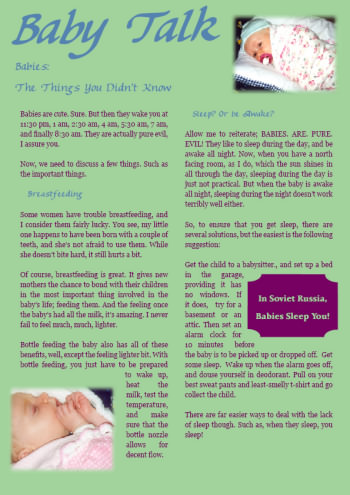 Ashy's Baby Talk page 1 for the 1.618 Weekly