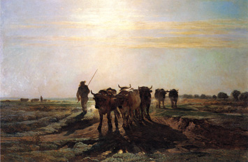 Cattle Going to Work - Impression of Morning by Constant Troyon (1855)