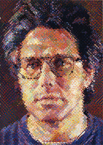 painted portrait of Eric, 1990 by Chuck Close