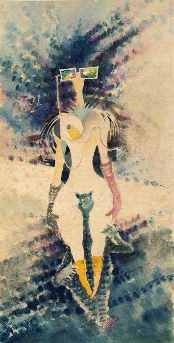 The Rather Odd Myopic Woman Riding Piggyback on One of Helen's Many Cats by Theodor Geisel aka Dr. Seuss