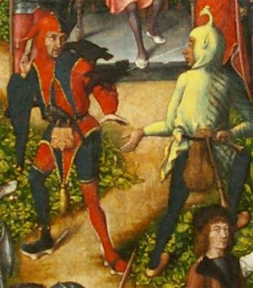 detail of Schuttersfeest (Festival of the Archers) by Meester van Frankfurt, 1493