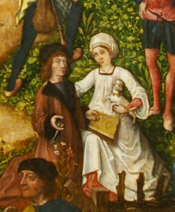 detail of Schuttersfeest (Festival of the Archers) by Meester van Frankfurt, 1493