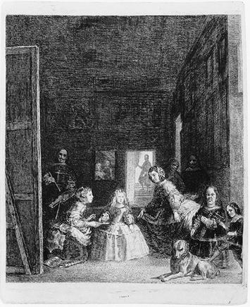Goya's etching after Las Meninas by Velazquez