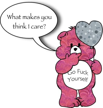 an I don't care bear