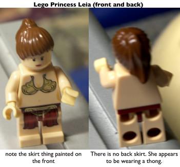 Lego Princess Leia (aka Slave Leia) wearing a thong