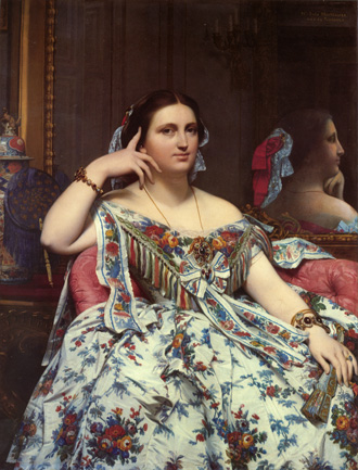 portrait of Madame Moitessier by JAD Ingres