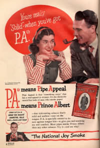 Prince Albert tobacco Pipe Appeal advertisement from a 1947 magazine
