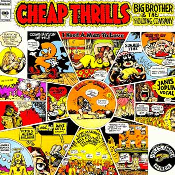 Cheap Thrills album by Janis Joplin with cover art by Robert Crumb