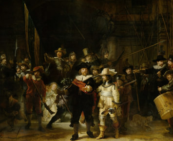 Rembrandt's Night Watch, 1642 of the Rijksmuseum
