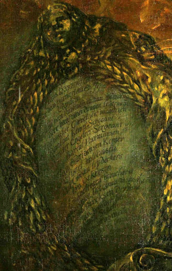 the shield of names from Rembrandt's Night Watch