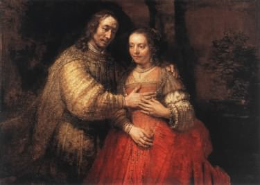 Rembrandt's the Jewish Bride aka Isaac and Rebecca
