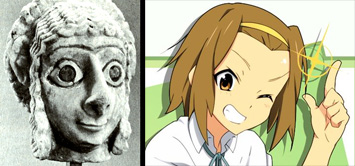 Sumerian head vs random anime character : Ritsu Tainaka