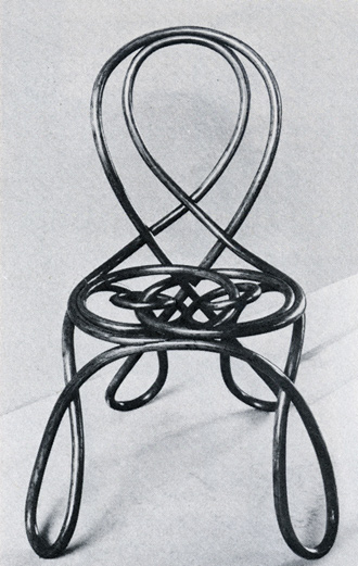 August Thonet of Gebruder Thonet bent wood chair, 1870