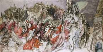 part of The Coronation of Queen Elizabeth II by Feliks Topolski