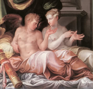 the painting Venus and Cupid by Niccolo dell' Abbate - a look at artistic plagarism