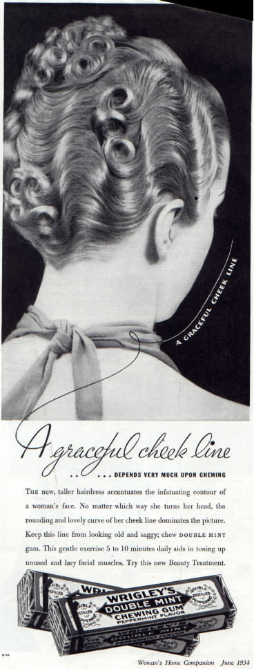 Wrigley's Double Mint ad from Woman's Home Companion magazine June 1934