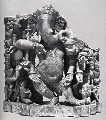 multiarmed Dancing Ganesh (c.10-11th century)