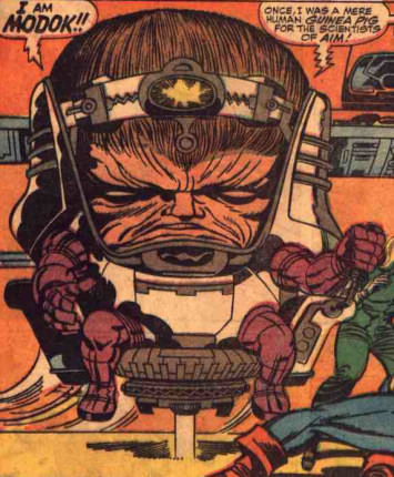 Modok aka M.O.D.O.K. The Mental Organism Designed Only for Killing from Tales of Suspense #94
