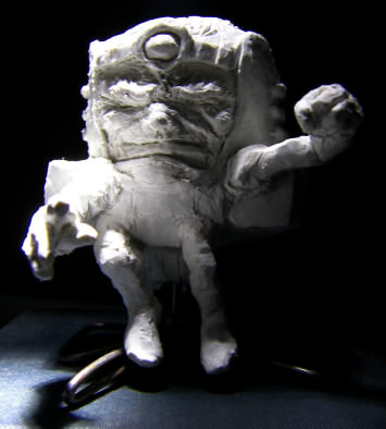 homemade sculpture of Modok aka M.O.D.O.K. aka The Mental Organism Designed Only for Killing